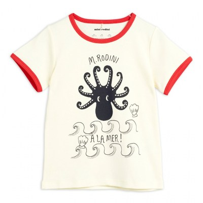 Mini Rodini Octopus SS Tee Red