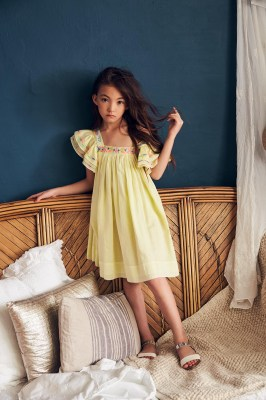 Nellystella Chloe Dress Lemon sour