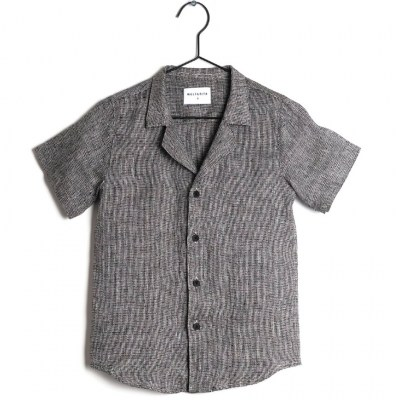 Wolf and Rita Shirt Bruno Black Linen