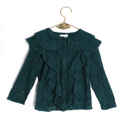 Wolf and Rita Rebeca Blouse - Green Lace