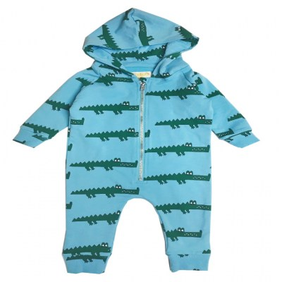 Hugo Loves Tiki Blue Crocodile Jumpsuit