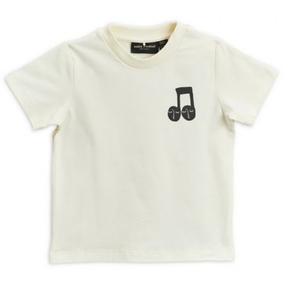 Mini Rodini Note Tee Offwhite