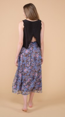 Louise Misha Bora Skirt Blue Flowers