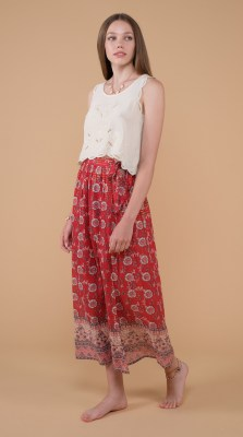 Louise Misha Mimila Skirt Red Flowers