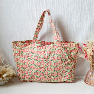 Louise Misha Beverly Tote Bag Pink Meadow